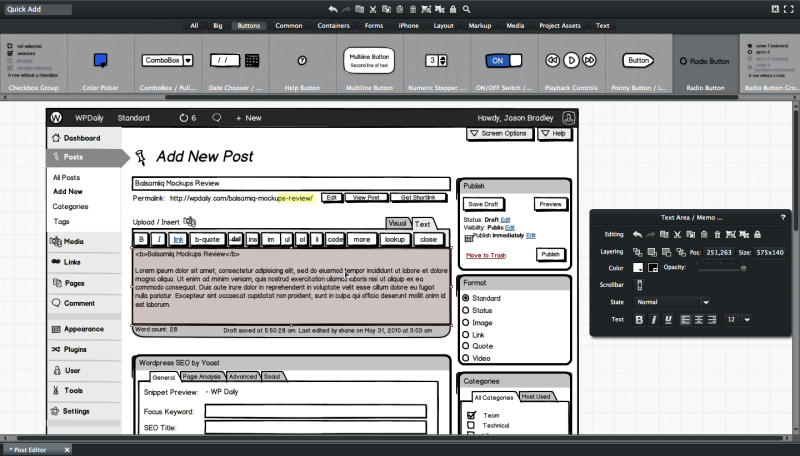 Wireframes con Balsamiq Mockups