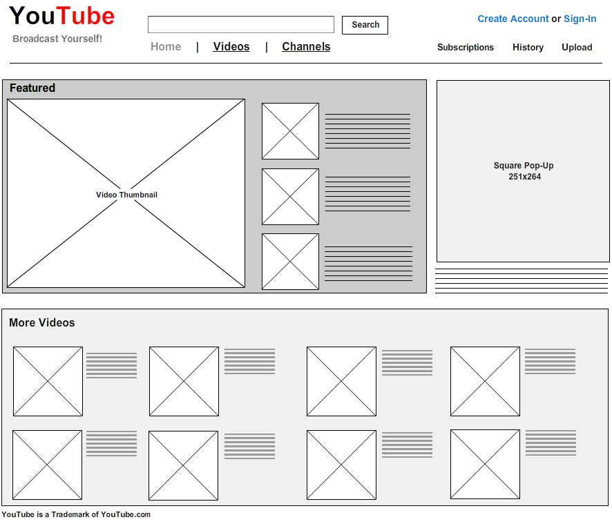 Wireframes con Mockflow