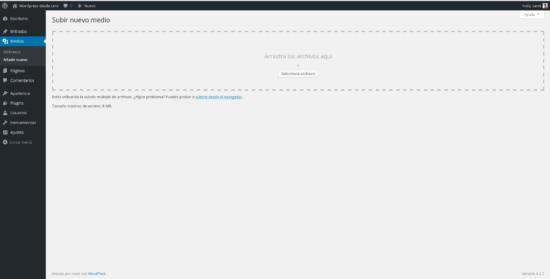 Añadir nuevo archivo multimedia wordpress